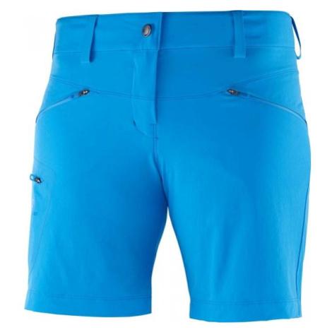Salomon WAYFARER SHORT W modrá - Dámské outdoorové kraťasy