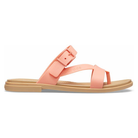 Crocs Crocs Tulum Toe Post Sandal W Grapefruit/Tan W9