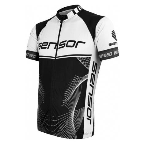 Pánský cyklodres SENSOR Cyklo Team Up kr. rukáv černá/bílá