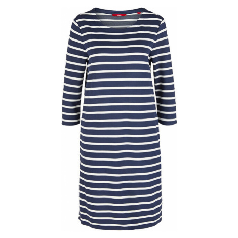 s.Oliver Dámské šaty 14.003.82.2968.58G9 Dark steel blue stripes