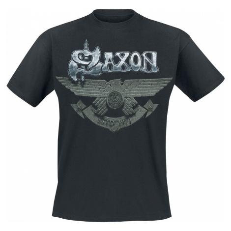 Saxon Est. 1979 Tričko černá
