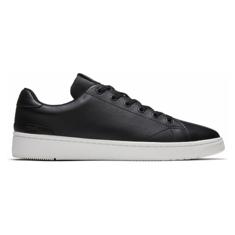 BLK LEATHER MN TRVL LITE 2.0 LOW SNEAK Toms