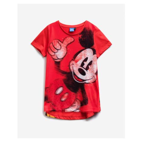 Desigual červené dívčí tričko Mary Mickey