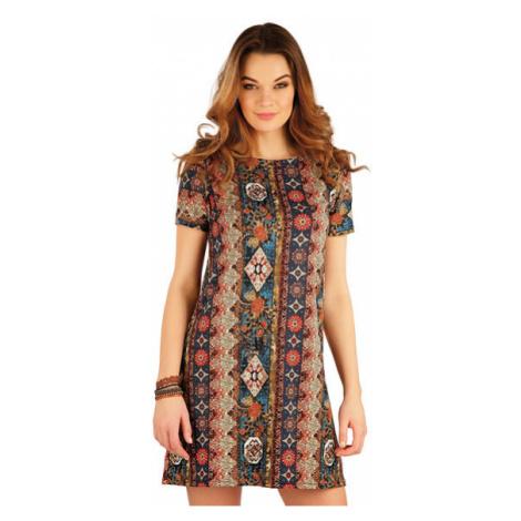 Dámské šaty s krátkým rukávem Litex 5A0134 | tisk