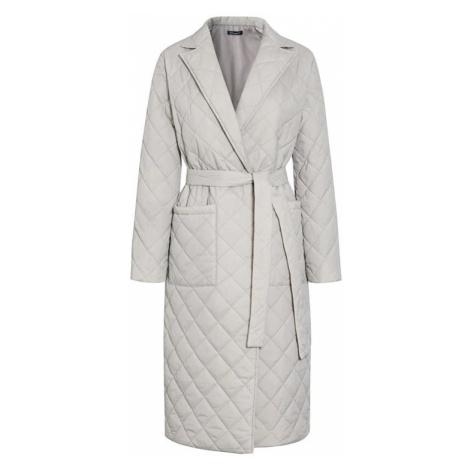 Módní županový kabát zimní prošívaný kabát s podšívkou