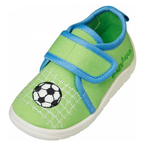 PLAYSHOES Pantofle 'Fußball' zelená / modrá / bílá / černá