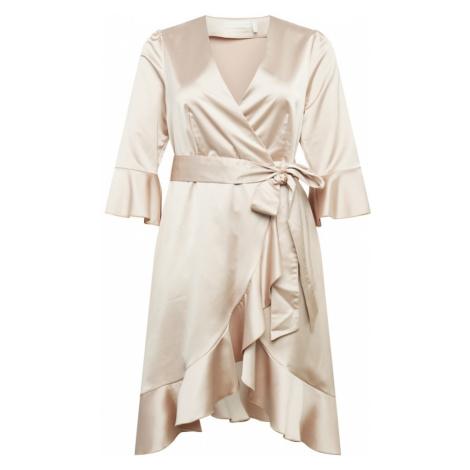 Guido Maria Kretschmer Curvy Collection Koktejlové šaty 'Mariella' růžově zlatá / stříbrná