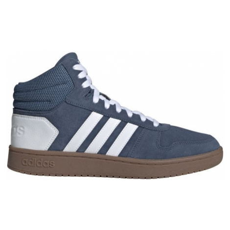 adidas HOOPS 2.0 MID modrá - Pánská kotníková obuv