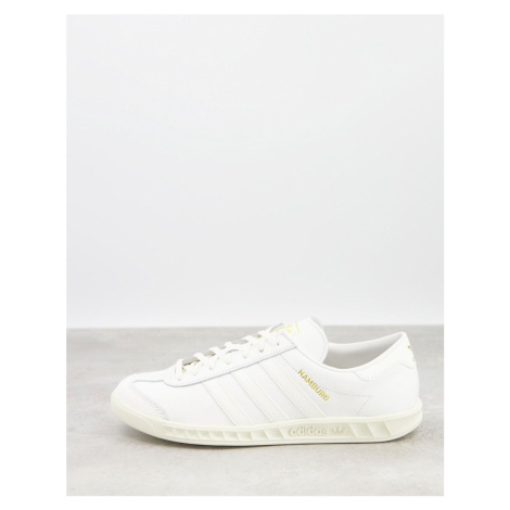 Adidas Originals Hamburg trainers in white