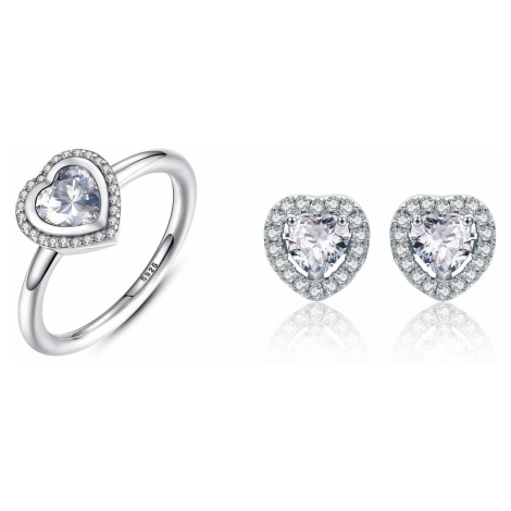 Linda's Jewelry Zvýhodněná sada šperků Love Srdce Ag 925/1000 IS041