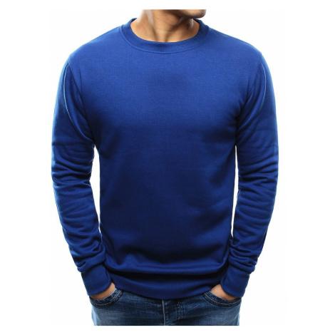 Buďchlap Jednoduchá modrá mikina bez kapuce