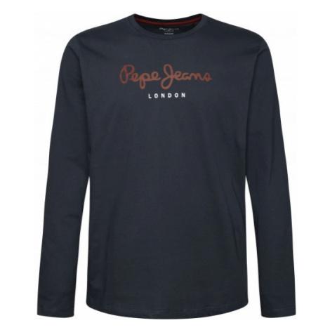 Pepe Jeans Pepe Jeans pánské tmavě šedé tričko s dlouhým rukávem EGGO LONG