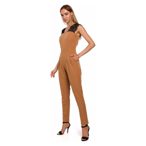 Made Of Emotion Woman's Jumpsuit M484 Cinnamon