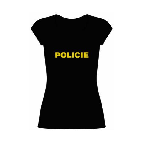 Dámské tričko velký výstřih Policie