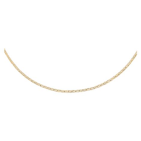 OLIVIE Stříbrný 50cm pozlacený řetízek 4206