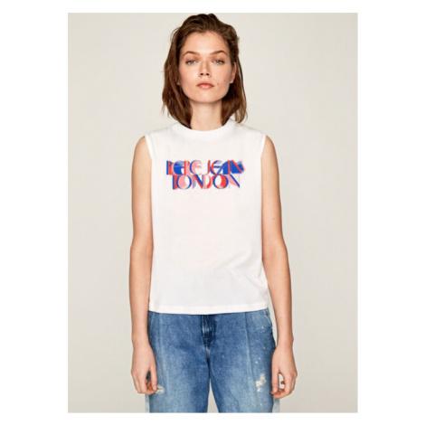 Pepe Jeans Pepe Jeans dámské bílé tričko Agnes