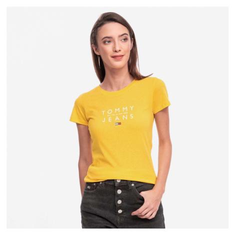 Tommy Jeans dámské žluté tričko Essential Tommy Hilfiger