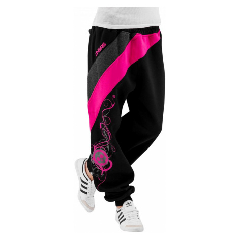 Dangerous DNGRS kalhoty dámské tepláky Skull Sweatpants Black/Pink