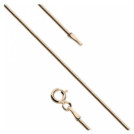 OLIVIE Stříbrný řetízek HAD GOLD pozlacený zlatý 50 cm 2582
