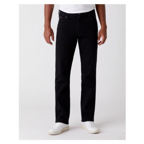 Wrangler jeans Texas Stretch Black Overdye pánské černé