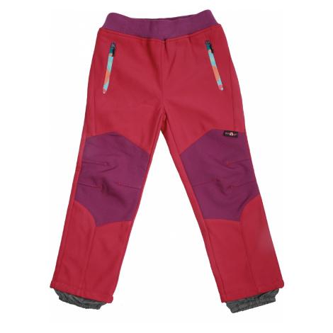 Dívčí softshellové kalhoty, zateplené - Wolf B2091, růžová sytě