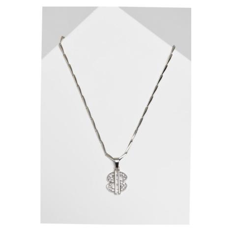 Small Dollar Necklace - silver Urban Classics