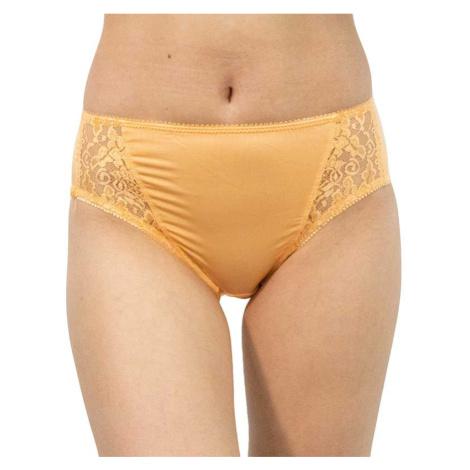 Dámské kalhotky Gina oranžové s krajkou (10120)