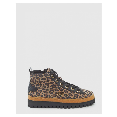 Kotníková Obuv La Martina Woman Boots Tahiti Calf Leather - Hnědá