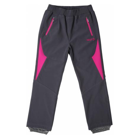 Dívčí softshellové kalhoty - Wolf B2182, tmavě šedá