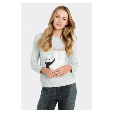 Dámské fleecové tričko na spaní