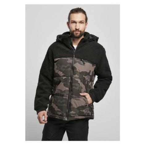 Brandit Jackson Teddyfleece Jacket black/darkcamo
