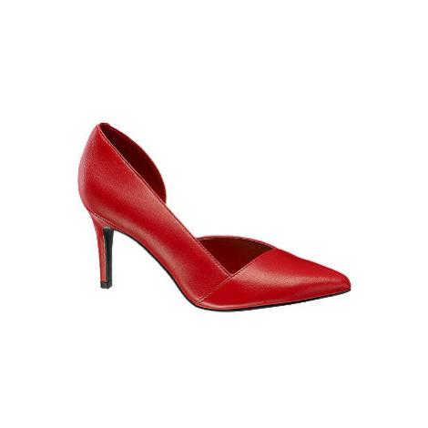 Červené kožené lodičky 5th Avenue