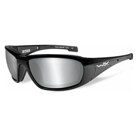Sluneční brýle Wiley X® Boss - rámeček černý, stříbrné zrcadlové čočky