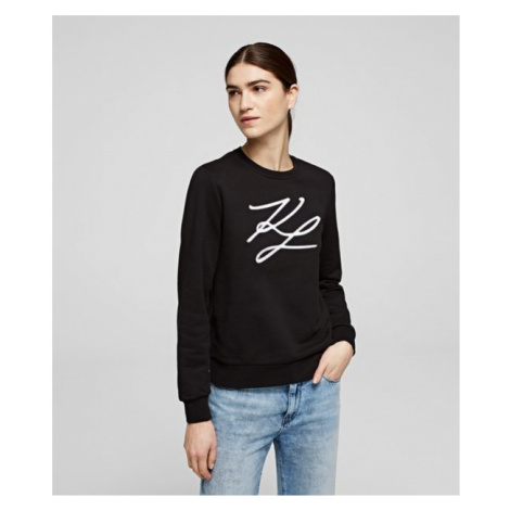 Mikina Karl Lagerfeld Kl Signature Sweatshirt - Černá