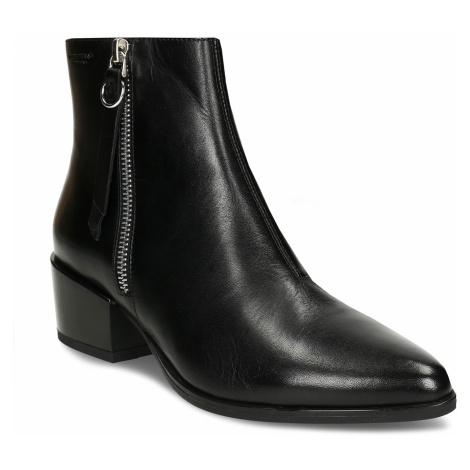 Kožená dámská černá kotníková obuv do špičky Vagabond