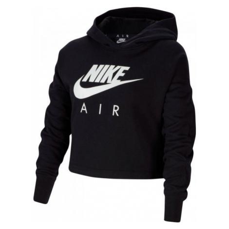 Nike NSW NIKE AIR CROP HOODIE G černá - Dívčí mikina