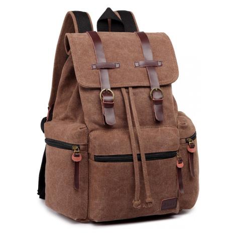 Kávově hnědý praktický kvalitní batoh Gotlen Lulu Bags