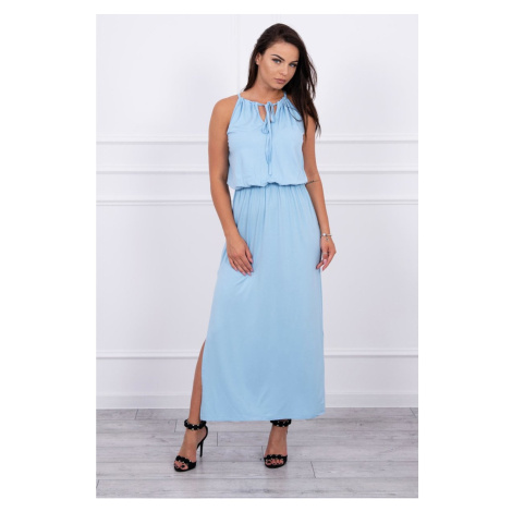Boho dress with fly azure Kesi