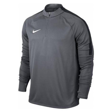 Tréninkové triko Nike Dril Top Squad Šedá / Černá