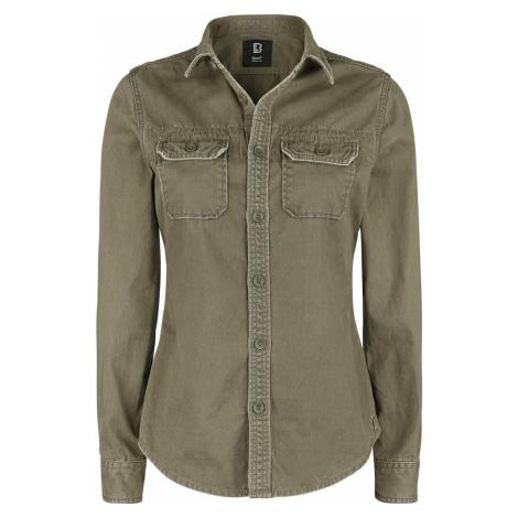 Brandit Dívčí vintage tričko s dlouhými rukávy dívcí halenka olivová