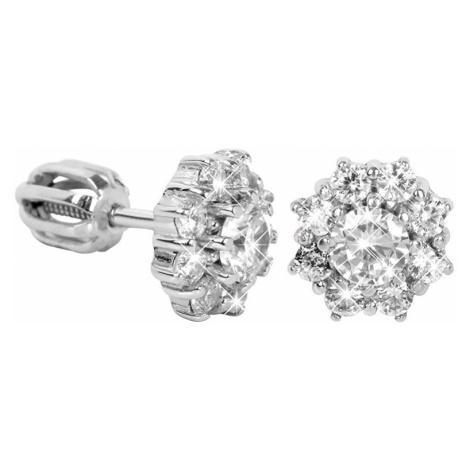 Brilio Silver Stříbrné náušnice s krystaly 001 04 - čiré