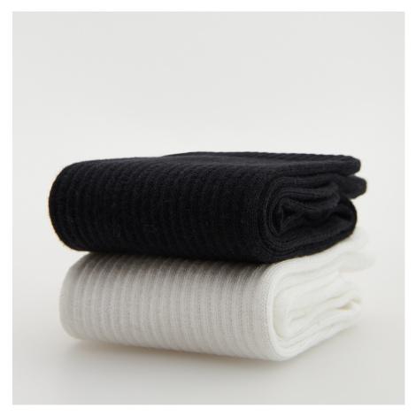 Reserved - Sada 2 párů ponožek s vysokým podílem bavlny - Černý