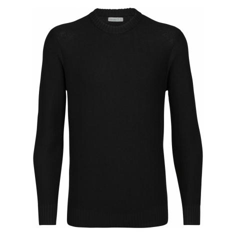 Pánské svetr ICEBREAKER Mens Waypoint Crewe Sweater, Black Icebreaker Merino