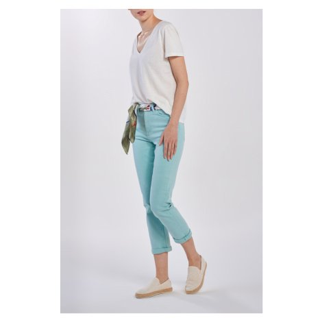 DŽÍNY GANT D1. HW SLIM CROPPED COLOUR JEANS