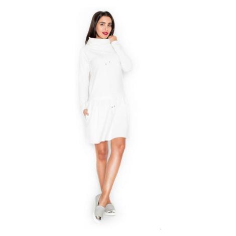 Dámské šaty Katrus K260 krémové | krémová