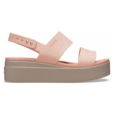 Crocs Crocs Brooklyn Low Wedge W Pale Blush/Mushroom W9
