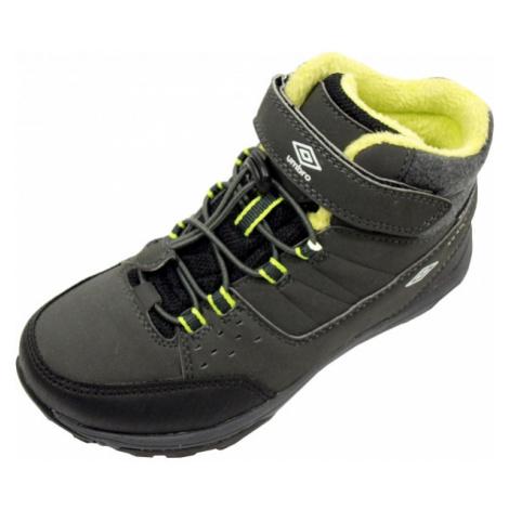 Umbro VALTO KID zelená - Dětská kotníková vycházková obuv