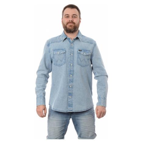 Košile Wrangler 27MW Used Bleach pánská světle modrá