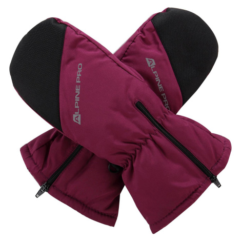 Dětské rukavice Alpine Pro HANGO - tmavě fialová