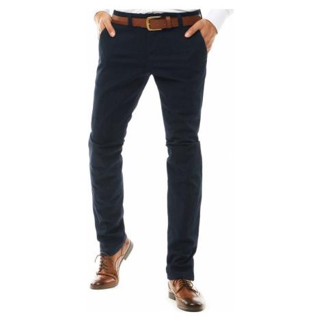 Tmavě modré pánské kostkované kalhoty (UX2590) UX2590 BASIC